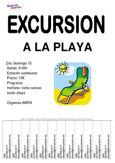 Ejemplo de carteles de viajes y excursiones