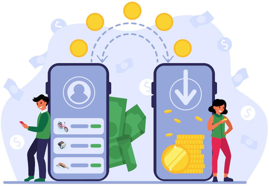 Compartir y prestar para ganar dinero
