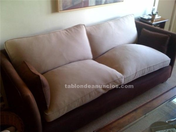 TABLu00d3N DE ANUNCIOS .COM - Sofa marron chocolate con fotos, Muebles