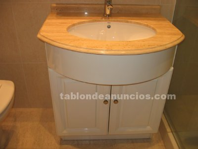 Tabl n de anuncios vendo mueble de ba o lacado en blanco for Vendo marmol travertino