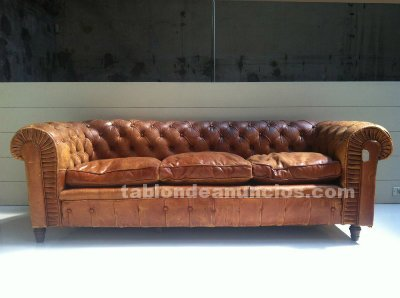 Tabl n de anuncios com vendo sof chester mod london for Sofa jardin segunda mano