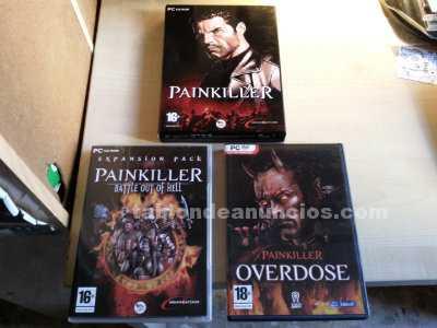 """trio"" de juegos [pc-cdrom] --painkiller--"
