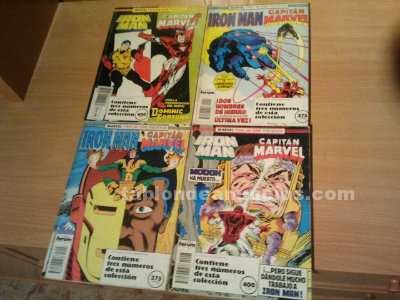 Comics de iron man+capit�n marvel.