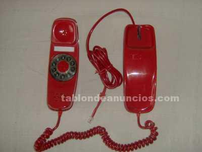 Telefono modelo gondola color rojo