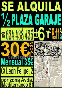 Alquilo plaza parking de 11,5 m2
