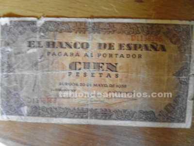 Billete 100 pesetas de 1938