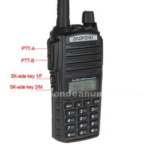 5w walkie talkie baofeng uv-82 bibanda largo alcance