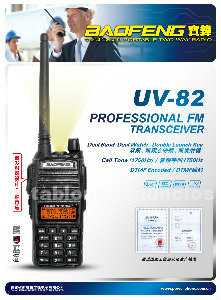 Walkie talkie baofeng uv-82 bibanda largo alcance 5w