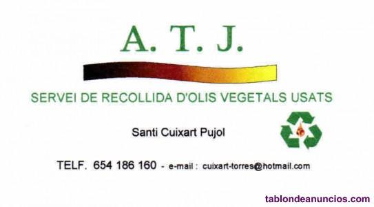 Aceite de cocina usado / oli de cuina usat