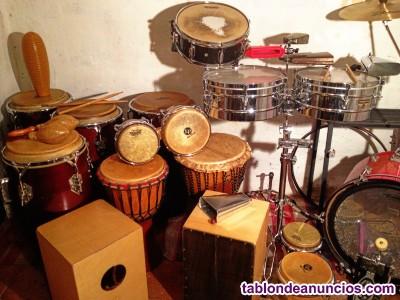 Aprende  bateria, percusión flamenca, afrolatina y africana