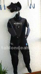 Traje seco aqualung blizzard 7mm talla l pie 39,5