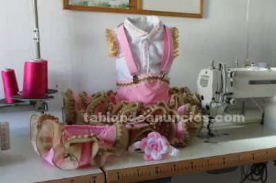 Trajes de flamenca de bebe (confecci�n)