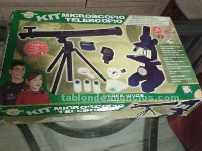 Kit de microscopio y telescopio