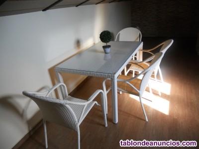 Conjunto mesa y butacas jardin