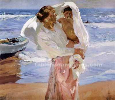 "Sorolla ""saliendo del mar""  lienzo 127 x 110 marina"