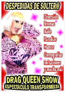 Espectaculo transformista drag queen antiboy show despedidas soltero soltera