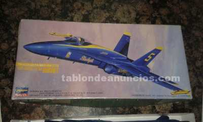 Maqueta avion blue angels f/a-18a hornet