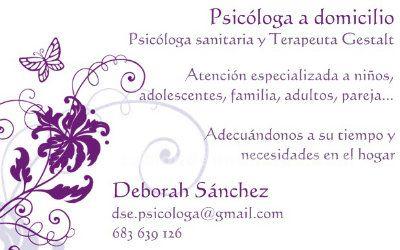 Psicóloga sanitaria y terapeuta Gestalt con hipnosis a domicilio