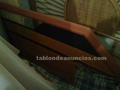 Vendo cama de cerezo y negro de 1,35cms.