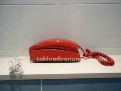 Telefono modelo gondola color rojo de pared