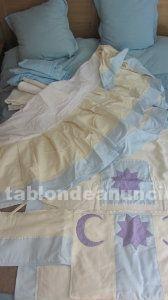 Set de ropa para cuna: cubrecuna, manta y chichonera