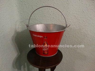 Cubo metálico cerveza Cruz Campo