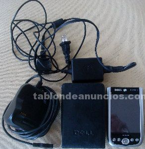 Agenda wifi : dell axim x50v + base + funda cuero