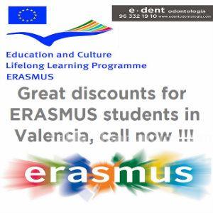 Erasmus, implantes dentales 30% descuento