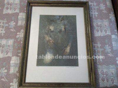 Grabado del gran pintor e escultor conocido espa�ol traver calzada