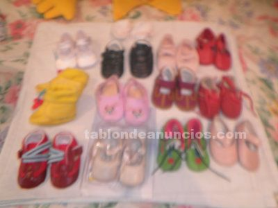 Zapatos de bebé. Tallas 15 a 18. 14 pares.por 8 euros