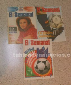 Revistas: usa 94, atlanta 96, eurocopa 96, star wars, michael jackson, etc.