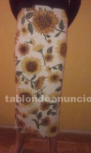 Falda larga de estampados florales