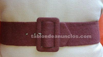 Cinturon de lana cachemira marron