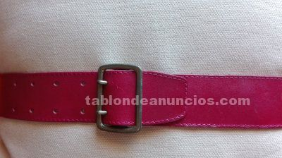 Cinturon rojo ancho de kenzo
