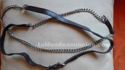 Cinturon kenzo cuero y cadenas
