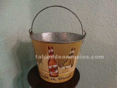 Cubo publicidad cerveza San Miguel donde va triunfa