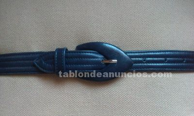 Oferta cinturon azul de cuero