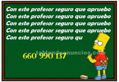Clases particulares individuales