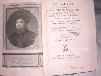 Libro antiguo de viajes.