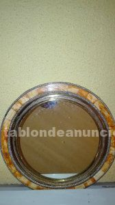 Espejo de hueso y cobre morroco