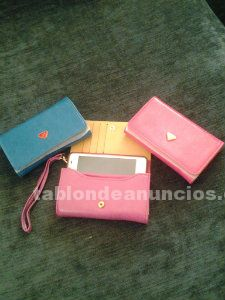 Cartera monedero guarda movil
