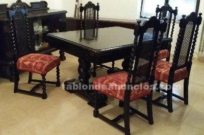 TABLÓN DE ANUNCIOS - Mesa comedor, dos cómodas, seis sillas