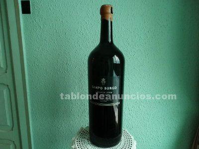 Botellón vacío de vino campo burgo - rioja