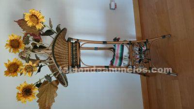 Pie mas cesta con girasoles