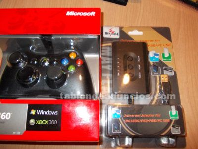 Mando xbox360 con adaptador a play3, pc