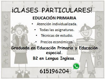 ¡¡clases particulares!!