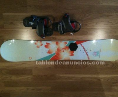 Tabla snow burton y fijaciones