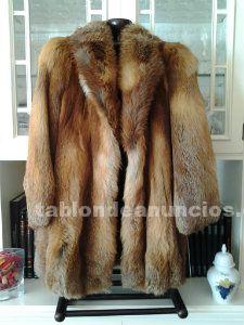 Vendo abrigo de piel de zorro semi-nuevo