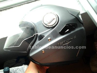 Casco astone helmet con luces led