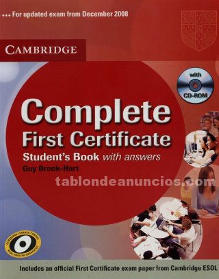 Complete first certificate  (b2)